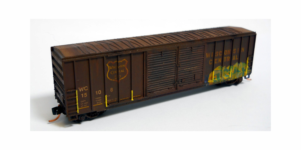 GFP Roundhouse Weathered & Graffiti Boxcar